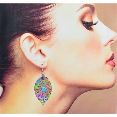 1p Filigree Earrings with silver hook New Ethnic Collection 78340