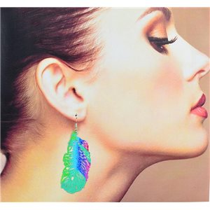 1p Filigree Earrings with silver hook New Ethnic Collection 78342
