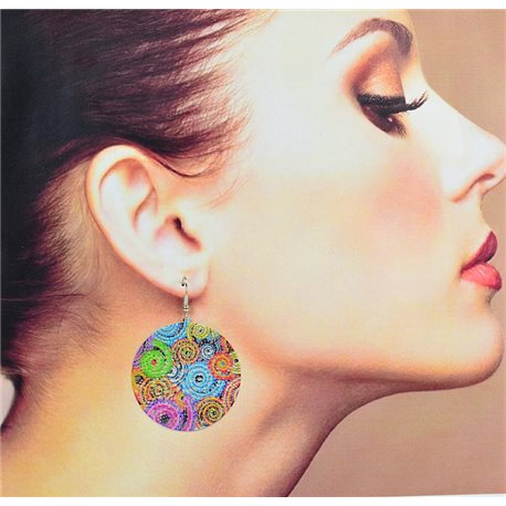 1p Filigree Earrings with silver hook New Ethnic Collection 78353