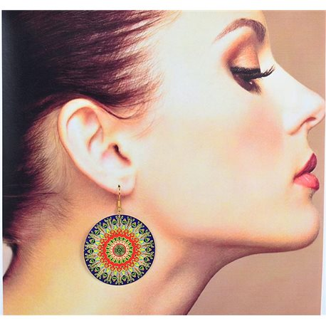 1p Filigree Earrings with golden hook New Ethnic Collection 78370