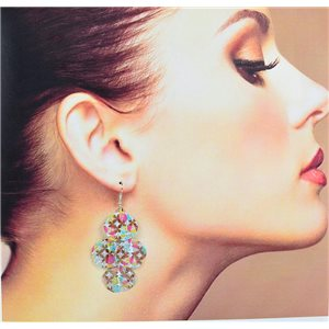 1p Filigree Earrings with silver hook New Ethnic Collection 78347