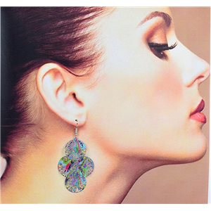 1p Filigree Earrings with silver hook New Ethnic Collection 78355