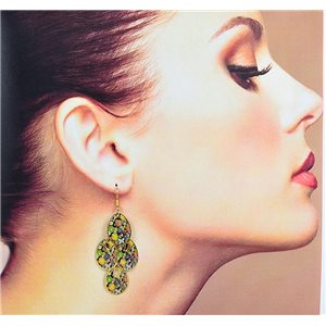 1p Filigree Earrings with golden hook New Ethnic Collection 78361