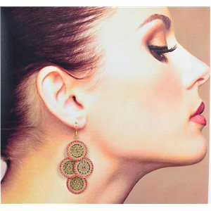 1p Filigree Earrings with golden hook New Ethnic Collection 78367