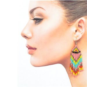 1p Drop Earrings with Hook 10cm Seed beads collection 77783