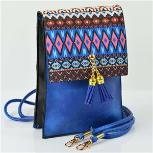 Women's leather-look pouch New Collection Ethnic Fabrics 12 * 17cm 78504