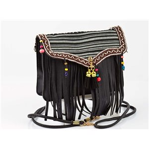 Women's leather-look pouch New Collection Ethnic Fabrics 18 * 14cm 78495