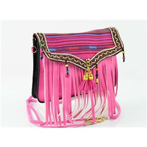 Women's leather-look pouch New Collection Ethnic Fabrics 18 * 14cm 78497