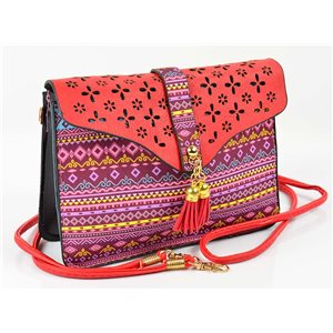 Women's leather-look pouch New Collection Ethnic Fabrics 18 * 14cm 78484