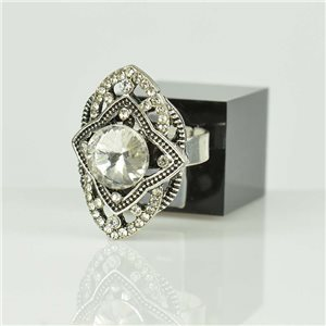 Bague Strass réglable Argenté Full Strass New Collection 78508