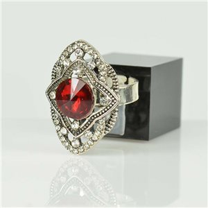 Adjustable Strass Ring Silver Full Strass New Collection 78509