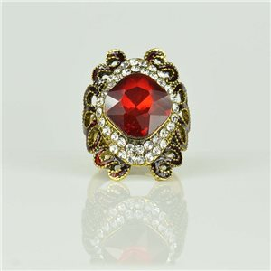 Adjustable Strass Ring Gold Full Strass New Collection 78513