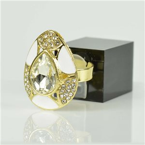 Adjustable Strass Ring Gold Full Strass New Collection 78516