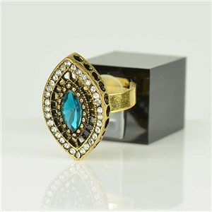 Bague Strass réglable Doré Full Strass New Collection 78522