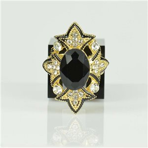 Adjustable Strass Ring Gold Full Strass New Collection 78523