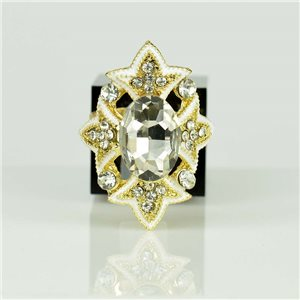 Bague Strass réglable Doré Full Strass New Collection 78524