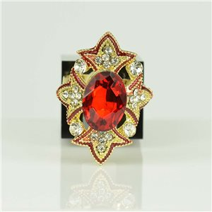 Adjustable Strass Ring Gold Full Strass New Collection 78525