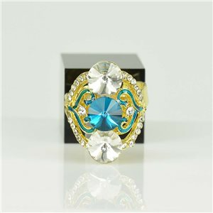 Bague Strass réglable Doré Full Strass New Collection 78530