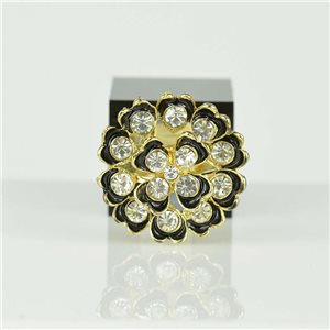 Adjustable Strass Ring Gold Full Strass New Collection 78535