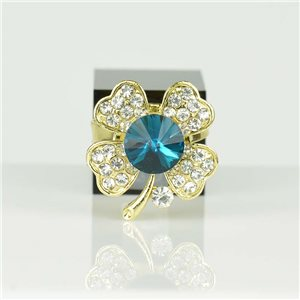 Adjustable Strass Ring Gold Full Strass New Collection 78542