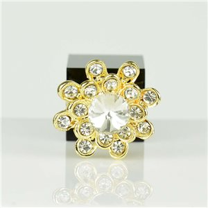 Bague Strass réglable Doré Full Strass New Collection 78544