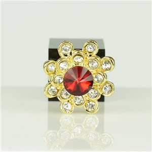 Adjustable Strass Ring Gold Full Strass New Collection 78545