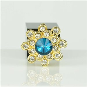 Bague Strass réglable Doré Full Strass New Collection 78546