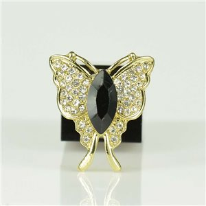 Bague Strass réglable Doré Full Strass New Collection 78547