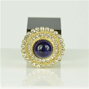 Adjustable Strass Ring Gold Full Strass New Collection 78558