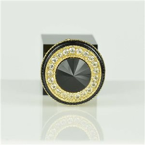 Adjustable Strass Ring Gold Full Strass New Collection 78559