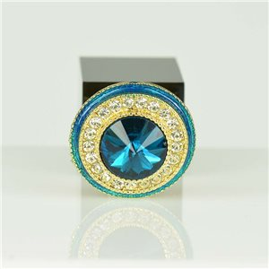 Bague Strass réglable Doré Full Strass New Collection 78562