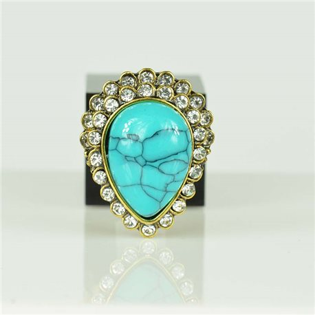 Adjustable Strass Ring Gold Full Strass New Collection 78565