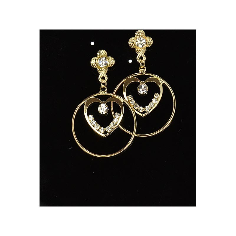 1p Strass Earrings Golden Ears Charm Collection 65920