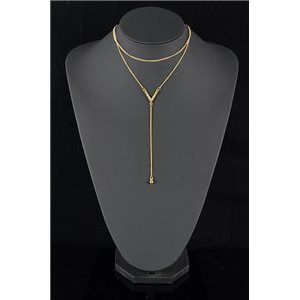 Collier Sautoir Triple Rang métal Doré New Collection 78581