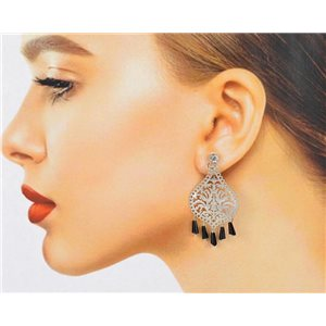 1p Filigree Zircon Stud Earrings and Tassels New Collection 78762