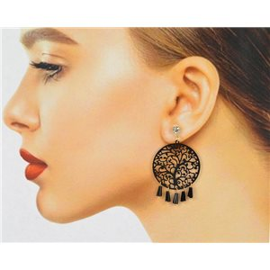 1p Filigree Zircon Stud Earrings and Tassels New Collection 78771