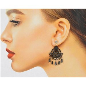 1p Filigree Zircon Stud Earrings and Tassels New Collection 78774
