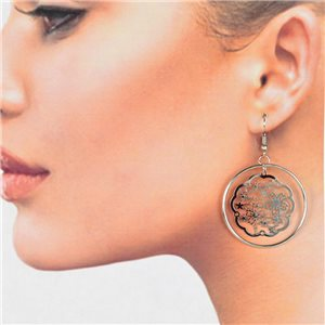 1p Filigree Silver Hook Earrings New Collection 78776