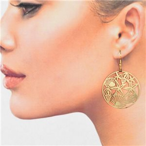 1p Filigree Golden Hook Earrings New Collection 78784