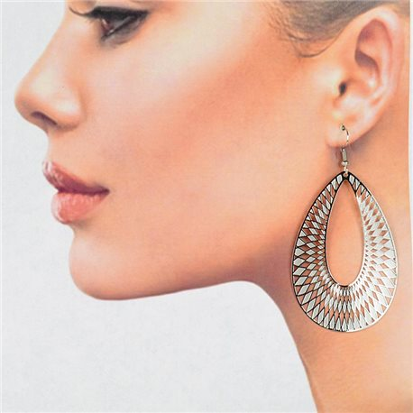 1p Filigree Silver Hook Earrings New Collection 78817