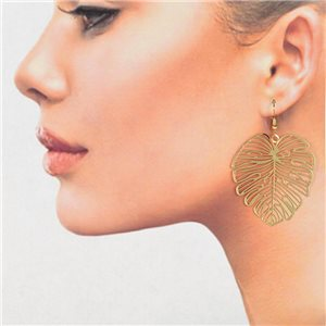 1p Filigree Golden Hook Earrings New Collection 78823
