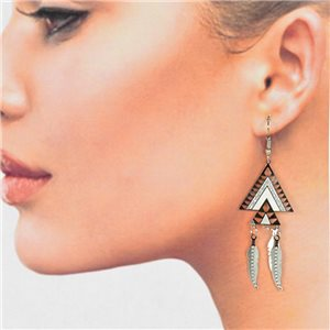 1p Filigree Silver Hook Earrings New Collection 78779