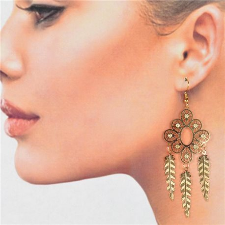 1p Filigree Golden Hook Earrings New Collection 78786