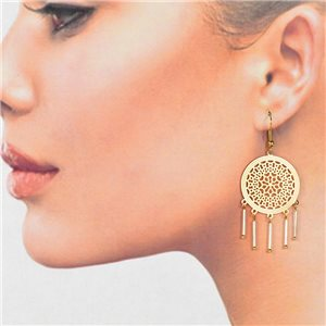 1p Filigree Golden Hook Earrings New Collection 78769