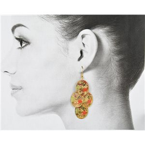1p Filigree Golden Hook Earrings New Collection 78797