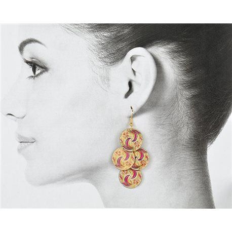 1p Filigree Golden Hook Earrings New Collection 78799