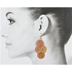 1p Filigree Golden Hook Earrings New Collection 78803