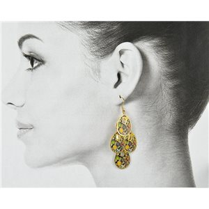1p Filigree Golden Hook Earrings New Collection 78805