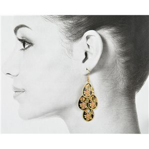 1p Filigree Golden Hook Earrings New Collection 78806