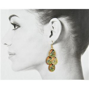 1p Filigree Golden Hook Earrings New Collection 78807
